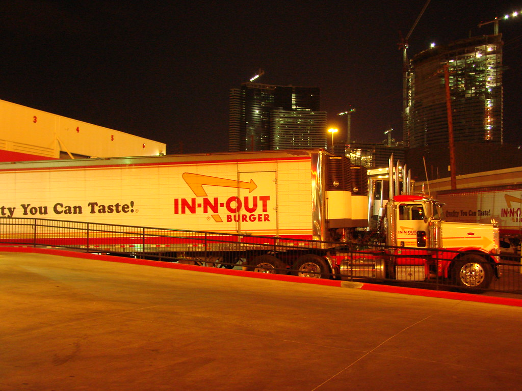 las vegas in n out burger delivery trucks at in n out bur flickr. Black Bedroom Furniture Sets. Home Design Ideas