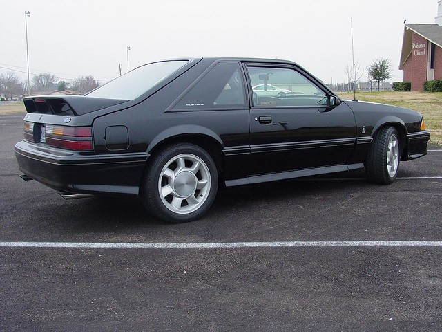 Black 1993 Ford Mustang Cobra With Silver Cobra Wheels Flickr