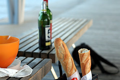 baguettes at picnic | by David Lebovitz