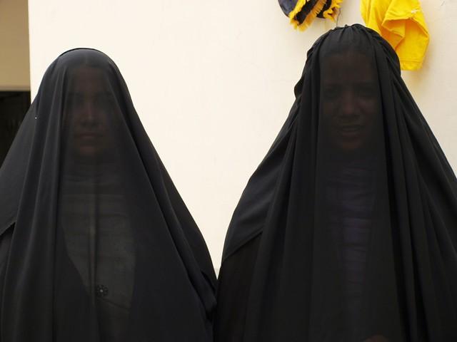 women in purdah rumana husain flickr