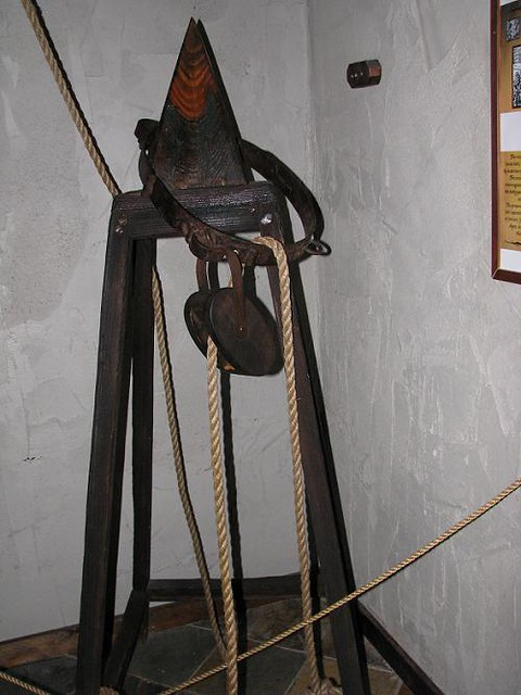The Judas Cradle Instrument During Medieval Times Flickr