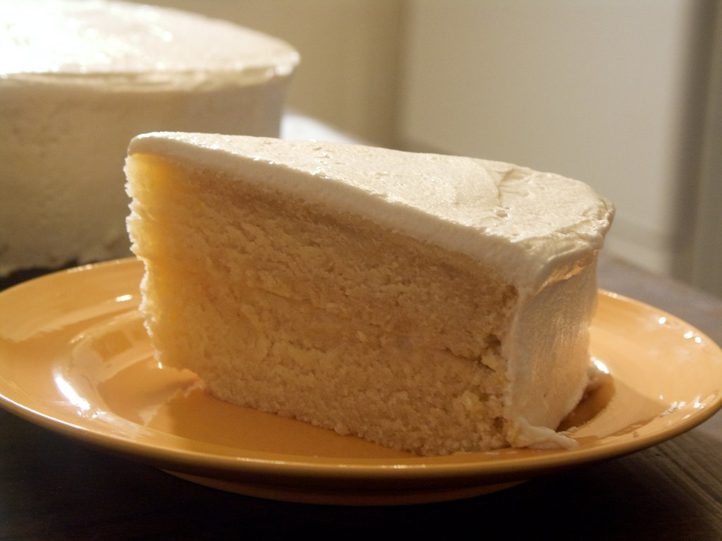 Image Of Slice Of Cream Cake