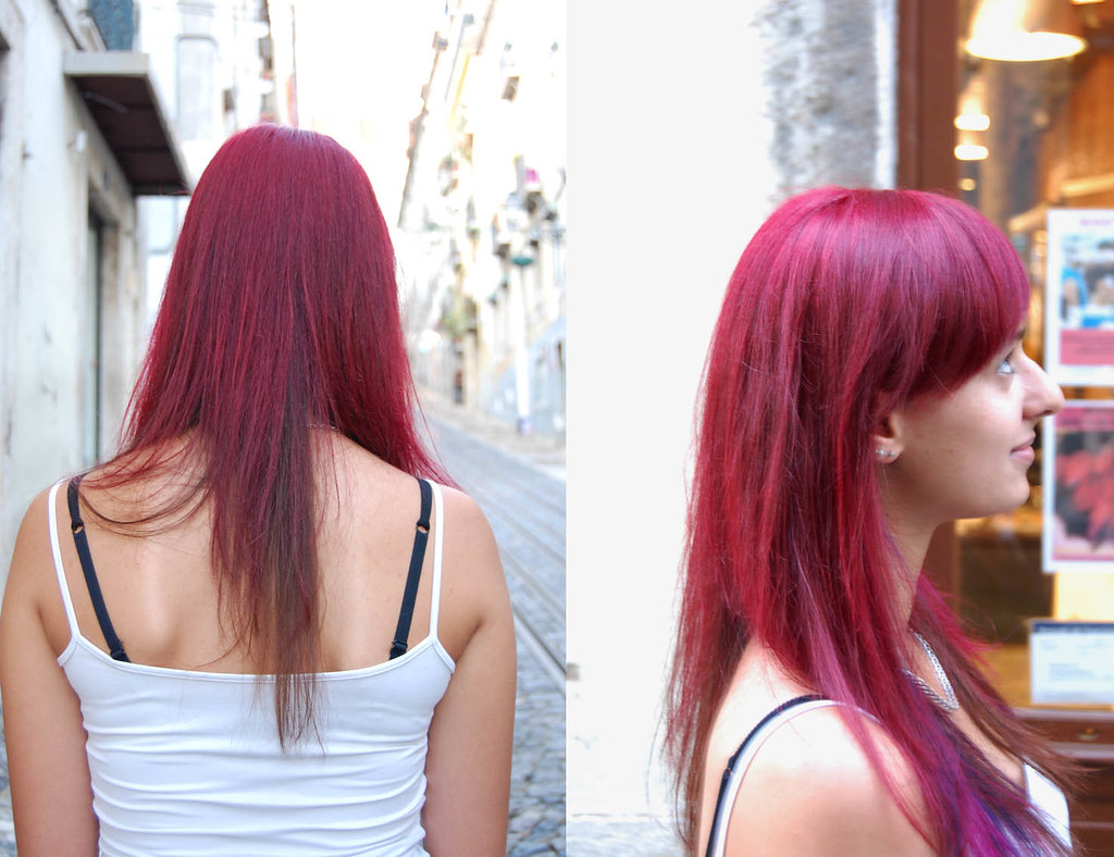 Hair Color Red Purple  Haircut By Silvia Hair Color By Ner  Flickr
