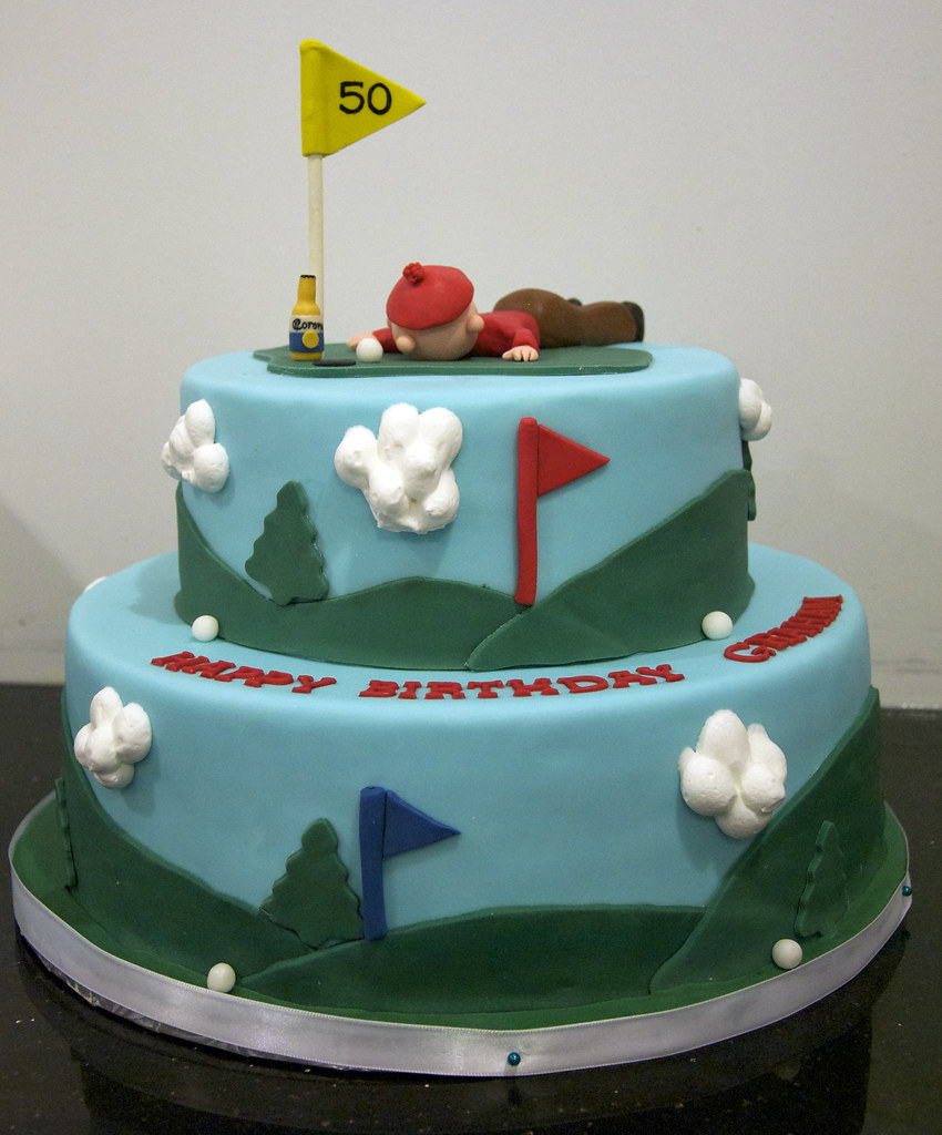 Golf Course Cake A Golf Course Theme Cake For A 50th