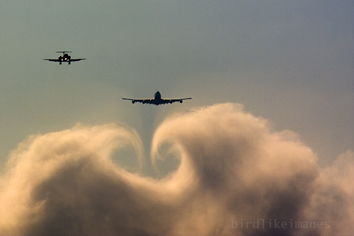 Descending through clouds few miles from landing. London Heathrow Airport UK | by Greg Bajor