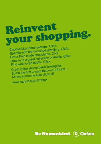 Oxfam Online Shop Advert A Set Of Poster And Adverts I