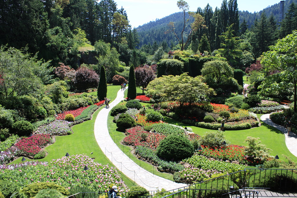 Butchart Gardens The Sunken Garden In The Butchart Gardens Flickr