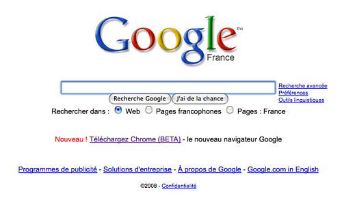 Google advertising Chrome on Google.fr | Tristan Nitot | Flickr