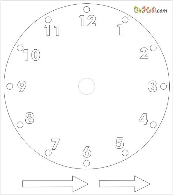 paper-clock-template | birhobibir | Flickr