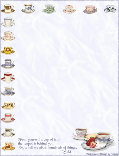 tea cups border stationery for free printable size go to pan clip art images pan clip art images