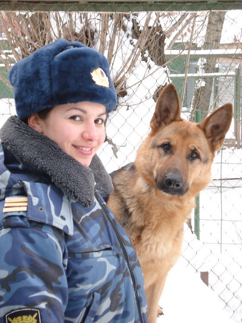 DMP-F010 RUSSIAN POLICEWOMAN AND HER DOG | The policewoman ...