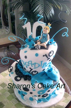 Soccer Girl Birthday Cake A Second Whimsical Cake In A