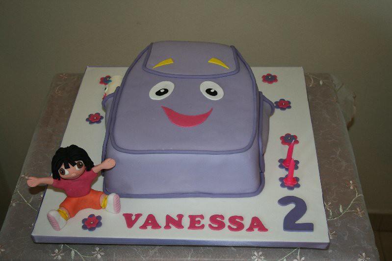 """Dora Cake Recipe In English: Dora's Backpack Cake. 2 9"""" Milk"""