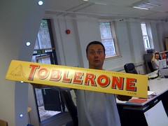 Justin & the Symantec Giant Toblerone | by joeldelane
