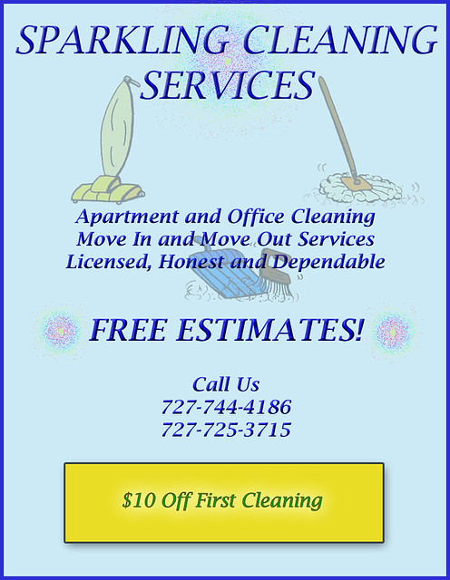 Cleaning Flyer Designed In Cs3 For A Small Cleaning