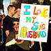 "NYC GAY RIGHTS PROTEST AGAINST PROP-8: ""Mother-in-law"""