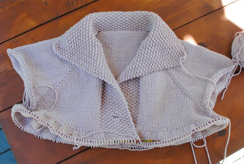 Вязание спицами кардиган регланом
