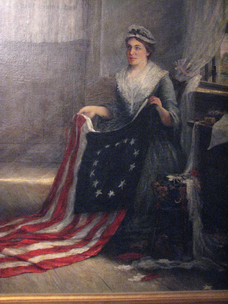 Betsy Ross | Harrisburg, Pennsylvania USA. Closeup from
