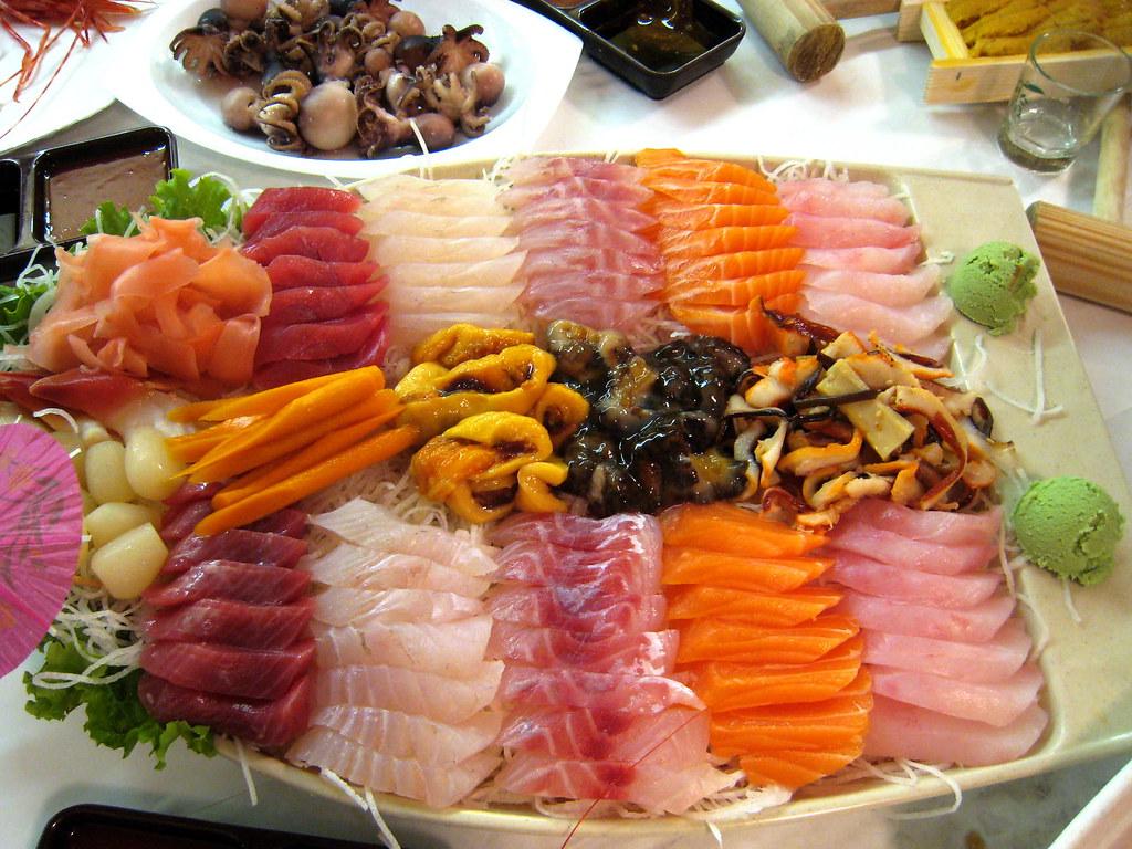 Image gallery sashimi platter for Best sashimi fish