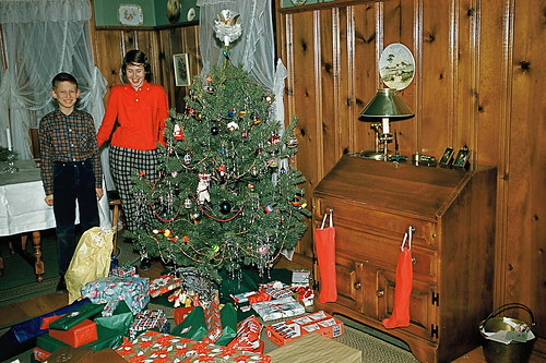 Christmas presents in front room, 1959 | by lreed76