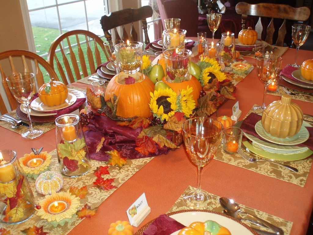 Thanksgiving Tablescape Table Set For Our Thanksgiving