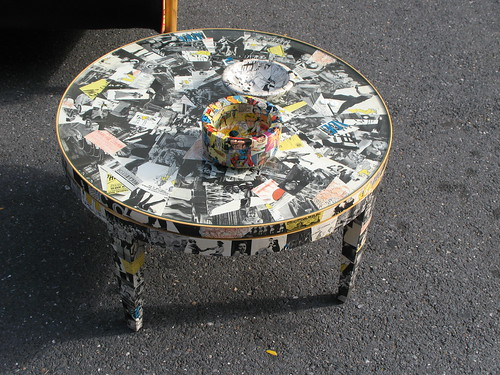 Pyramid Atlantic cool decoupage table | by bptakoma