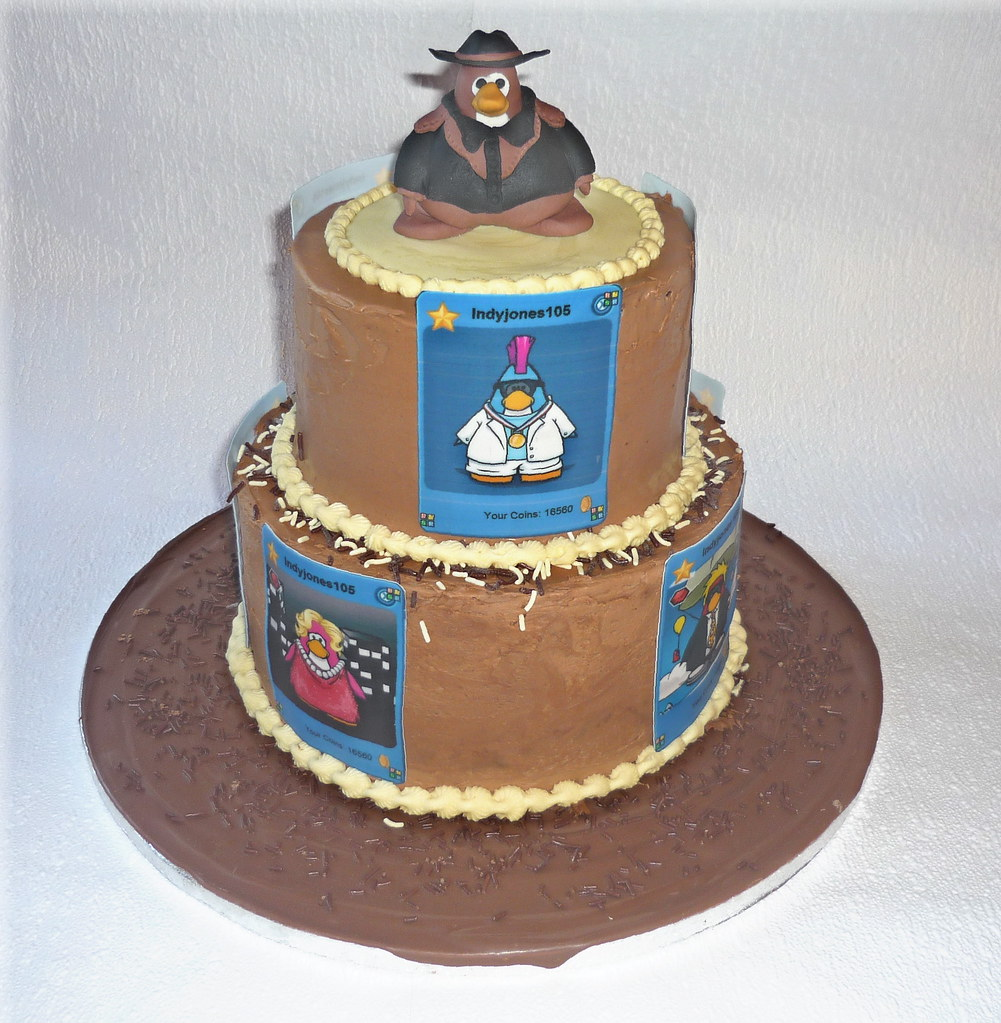 Lucas Club Penguin Cake Lucas Is Club Penguin Mad And