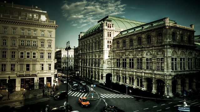 Vienna state opera in spring