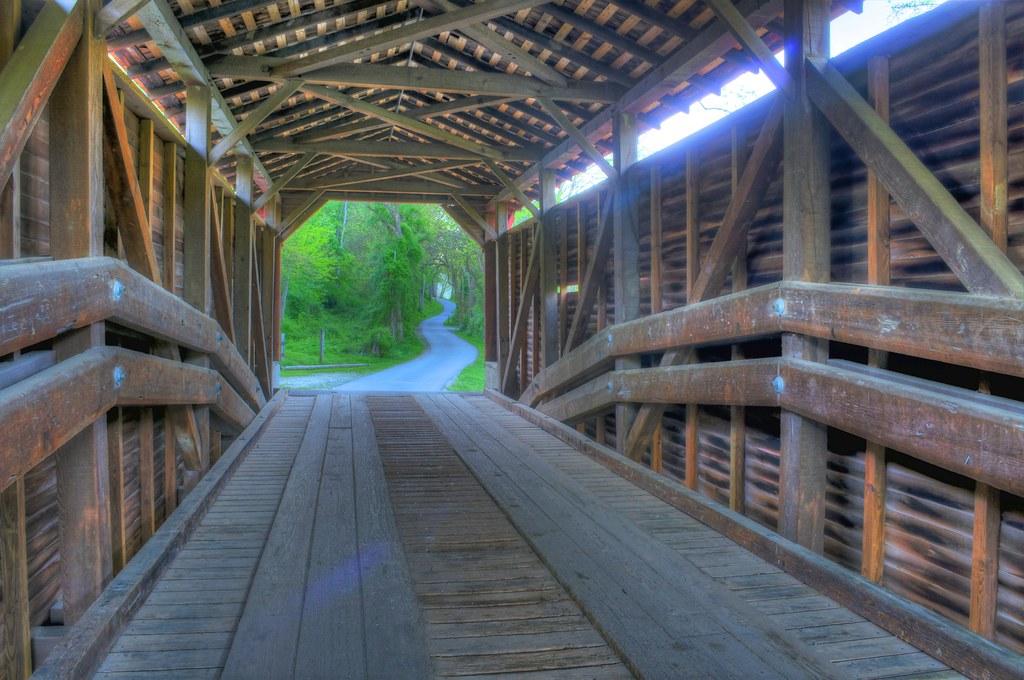 Foxcatcher Farm Covered Bridge Fair Hill Maryland Usa