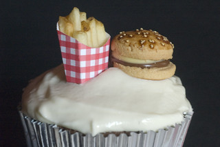 Burger and Fries Cupcake | by show and tell