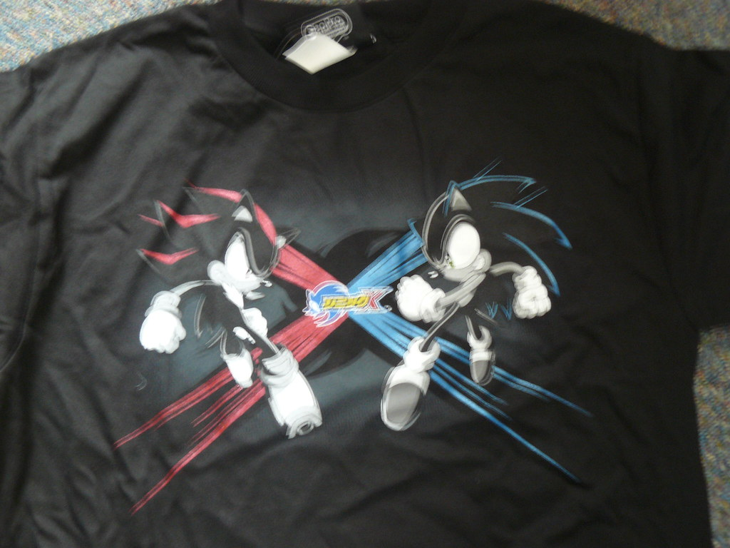 Red And Black 3d >> Sonic X - T-Shirt: Sonic Vs Shadow | Sonic X - T-Shirt: Soni… | Flickr