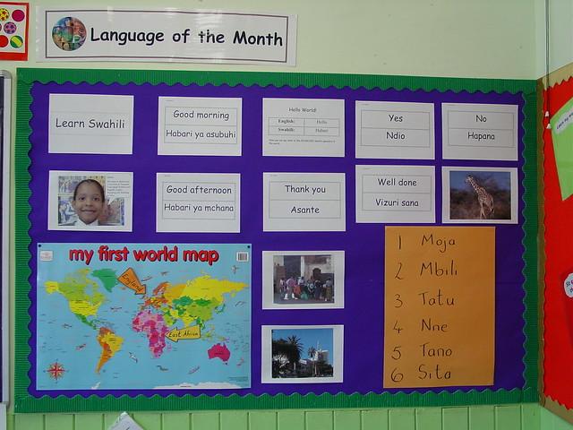 Modern Language Classroom Displays ~ Language of the month display these wonderful