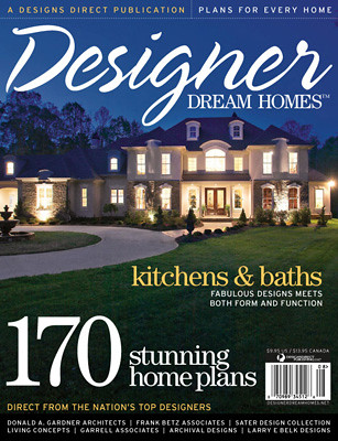 designer dream homes magazine cover editorial design for