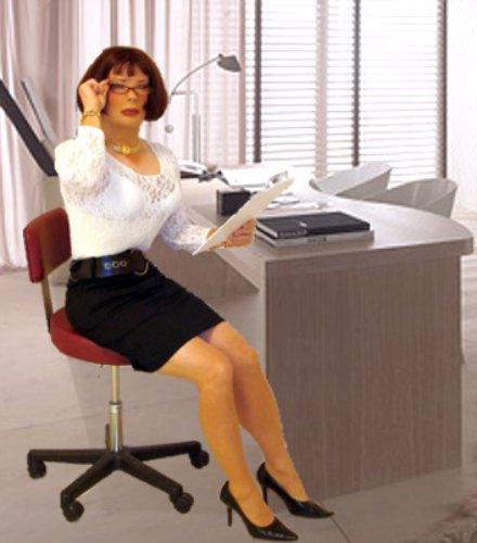 kathy leigh secretary in black pencil skirt and heels flickr