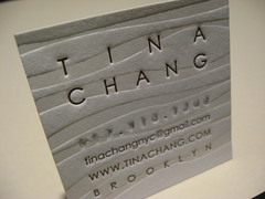 Tina Chang Letterpress Business Card (closeup) | by dolcepress