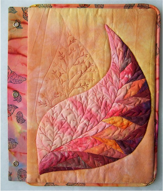 Book Cover Craft Cover : July right page leaf is pieced with pieces