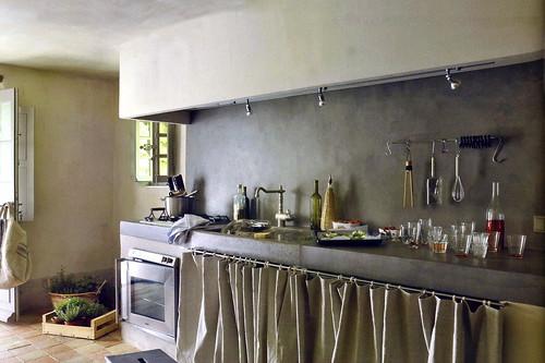 Designer Kitchen In Black With Rushed Nickel Handles
