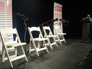 Brian Lehrer Live at Hofstra: The stage | by wnyc