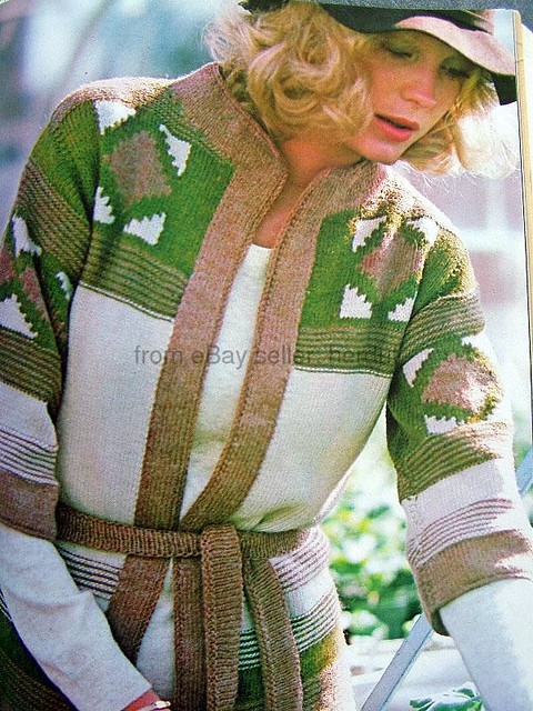 Vintage Knitting Patterns 1970s Colorwork Cardigans Flickr