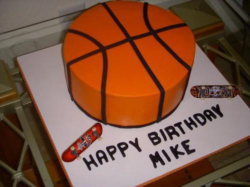 Basketball Court Birthday Cake