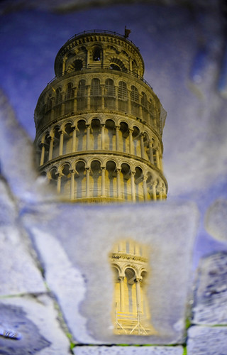 leaning tower of Pisa (reflection) #EXPLORE | by Ali Al-Zaidi