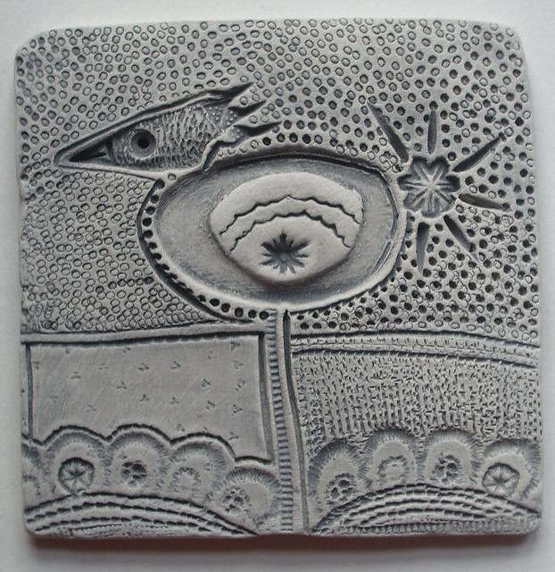 New work small clay tile i 39 ve been working on some for Clay mural making