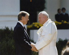 President Jimmy Carter with Pope John Paul II | by Marion Doss