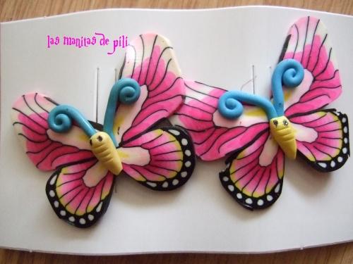 Mariposas las compre en una tienda son de goma eva y - Como hacer mariposas de goma eva ...