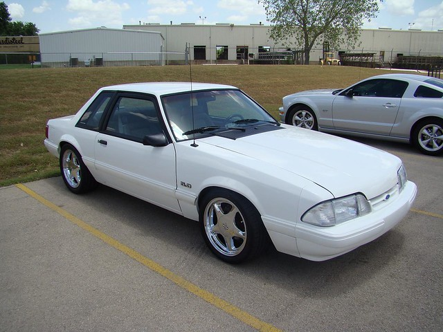 White Fox Body Mustang Lx Coupe On Chrome Pony Wheels Flickr