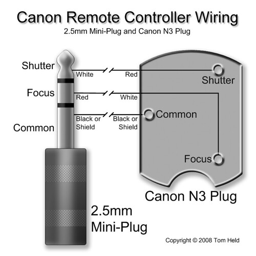 Canon Remote Controller Wiring  2 5mm Mini