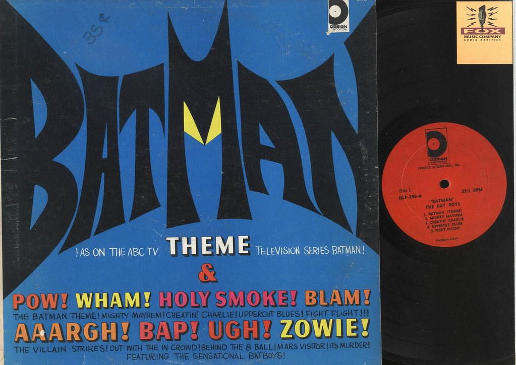 Batman Theme Song Design Records Dlp 249 Vinyl Lp Abc Tele