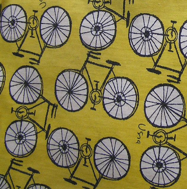Vintage Fabric - Vera Bikes | Fabric is from a t-shirt ...