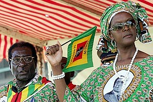 Zimbabwean President Robert Mugabe along with First Lady Grace. She made a powerful and defiant speech calling for the continuation of ZANU-PF rule in this southern African nation. | by Pan-African News Wire File Photos
