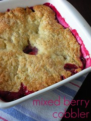 mixed berry cobbler | by awhiskandaspoon